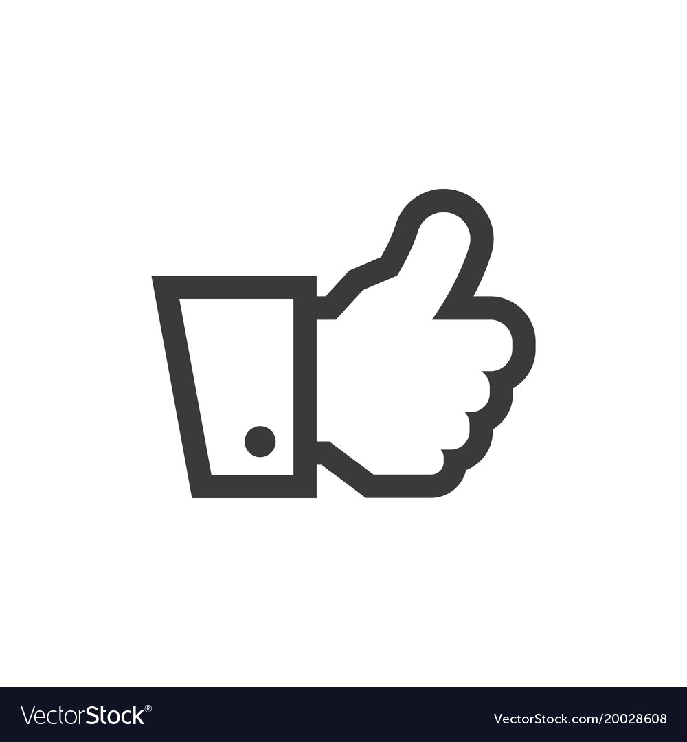Hand thumbs up icon symbol vector image