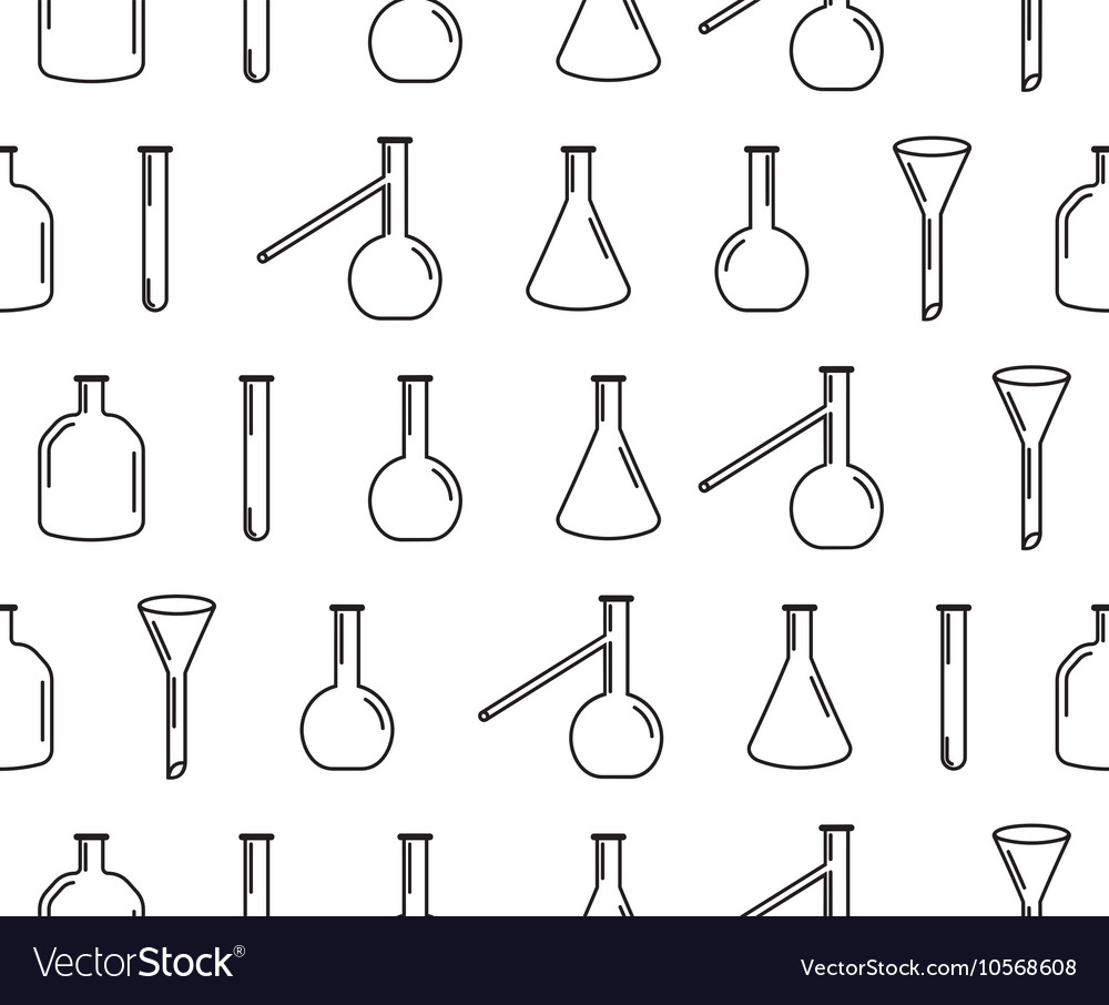 Laboratory equipment seamless pattern vector image