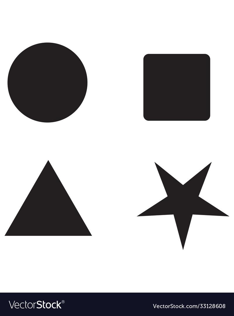 Symbol triangle rectangle pentagon hexagon