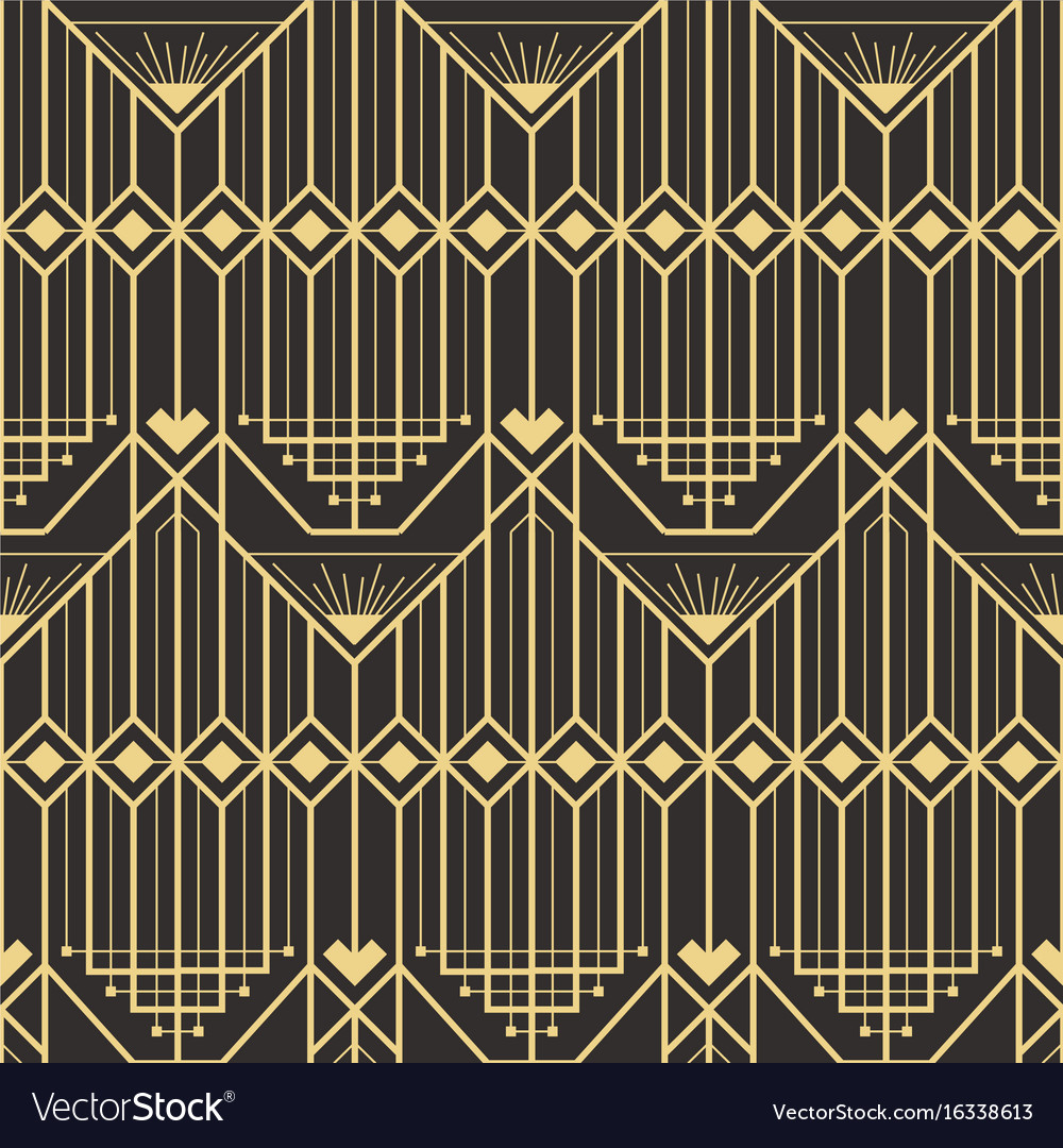 Abstract art deco modern style seamless pattern