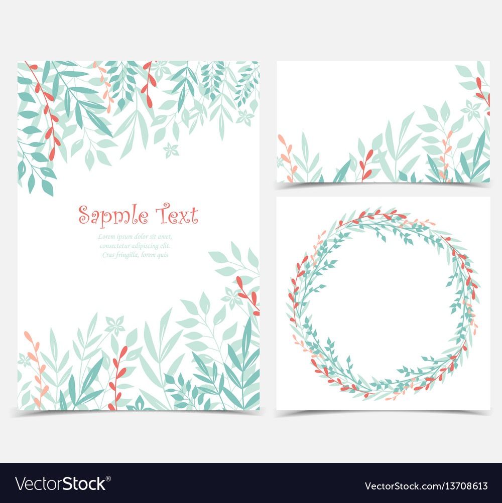 Decoration branches with leaves