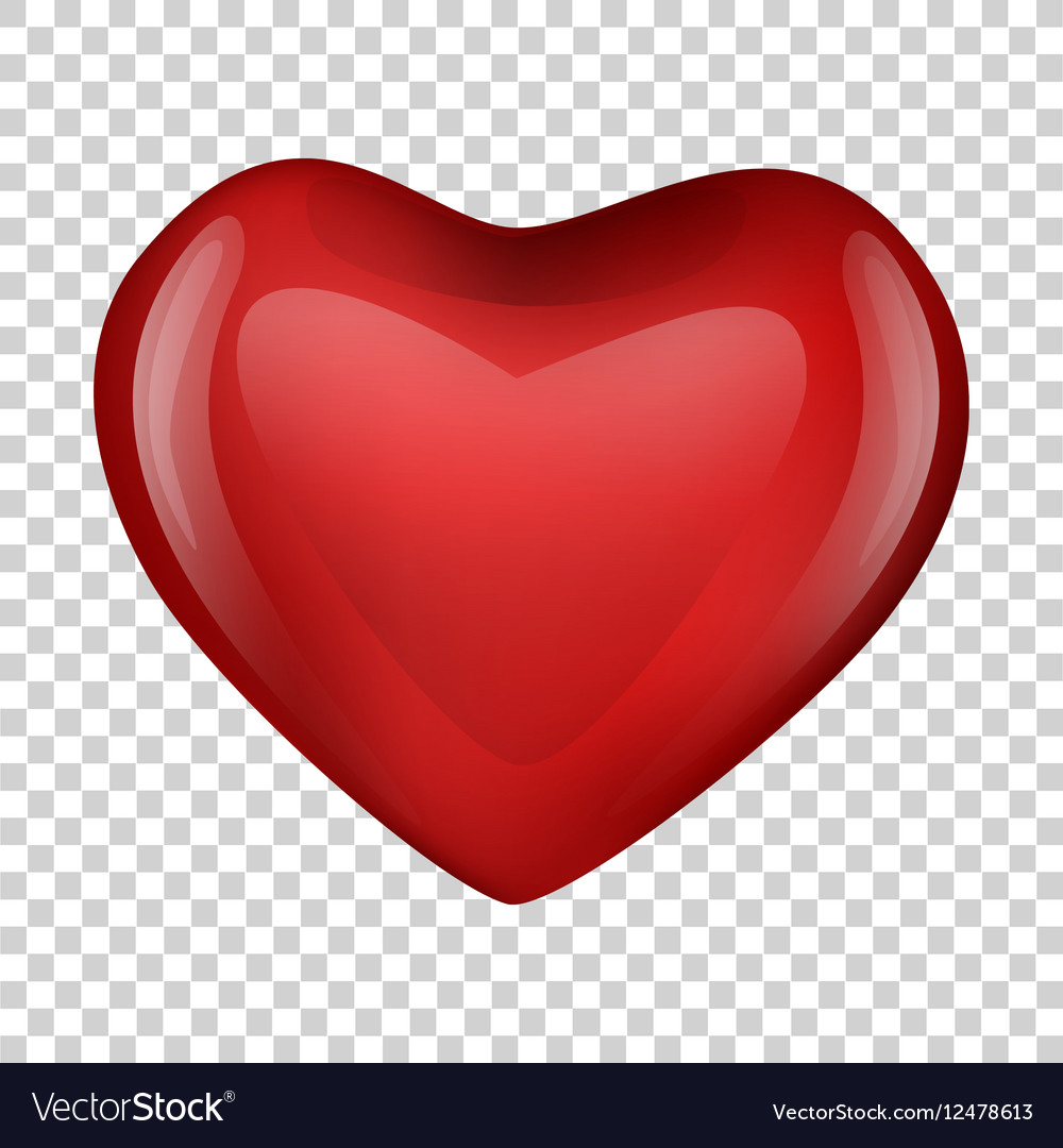 heart on transparent background valentine day vector image rh vectorstock com heart transparent background free heart transparent background free