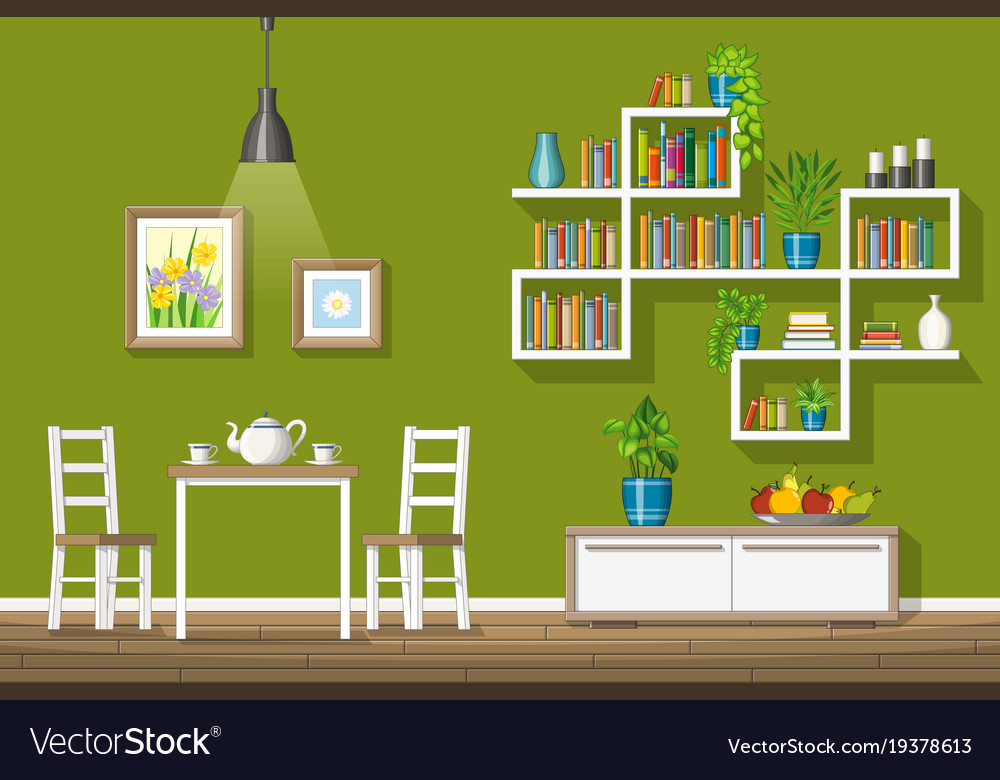 Interior Equipment A Modern Dining Room Royalty Free Vector