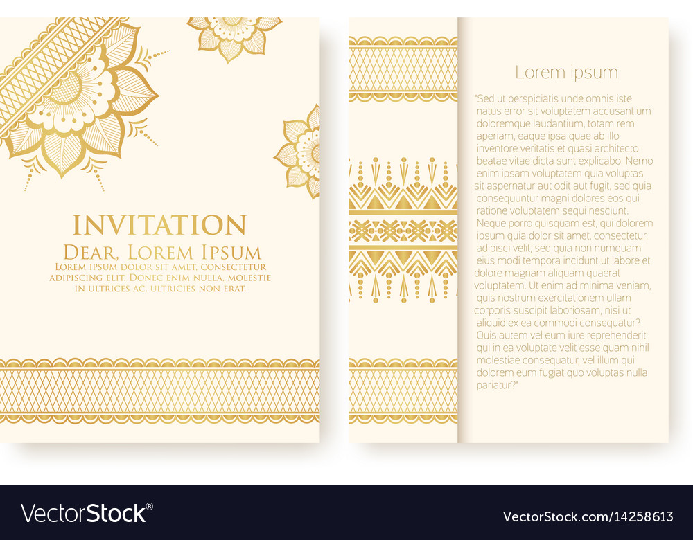 Invitation cards with ethnic