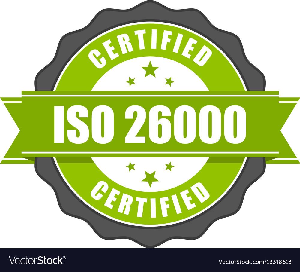 Iso 26000 standard certificate badge - social resp