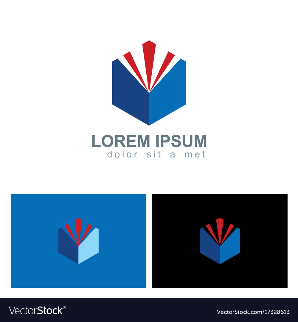 Polygon shine shape technology logo