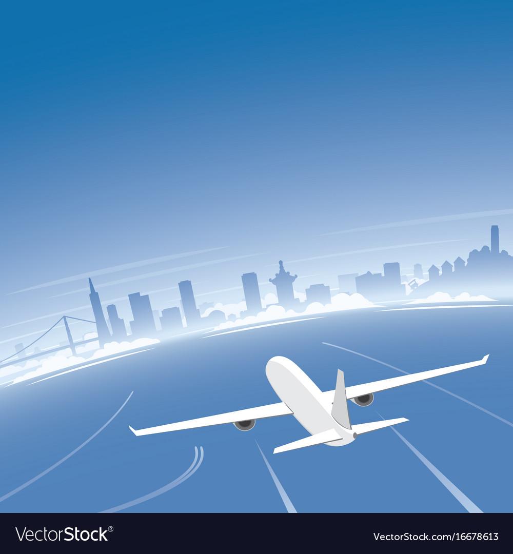 San francisco skyline flight destination