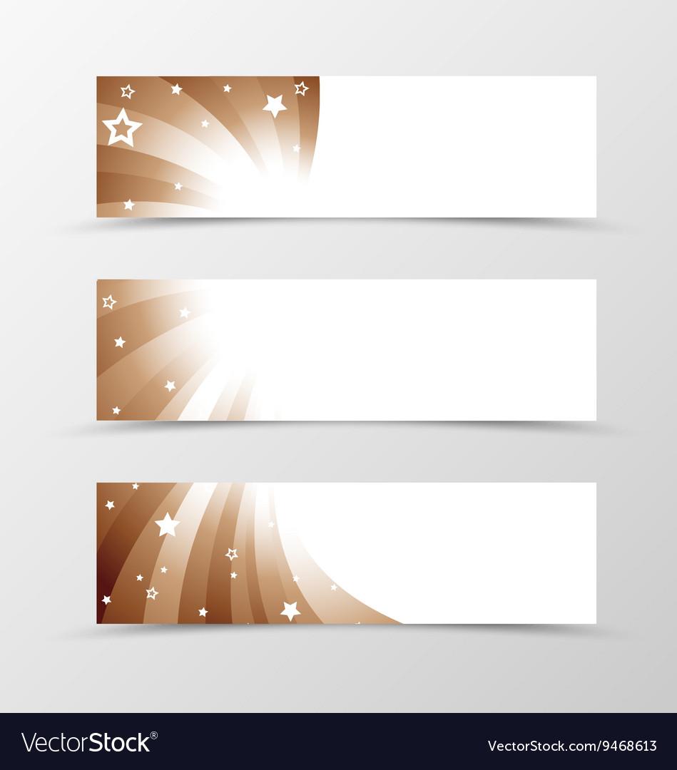 Set of banner swirl design vector image