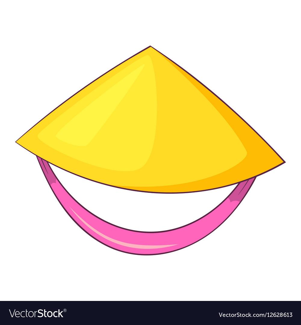 Vietnamese hat icon cartoon style vector image