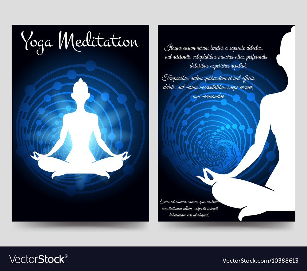 Yoga brochure flyers template