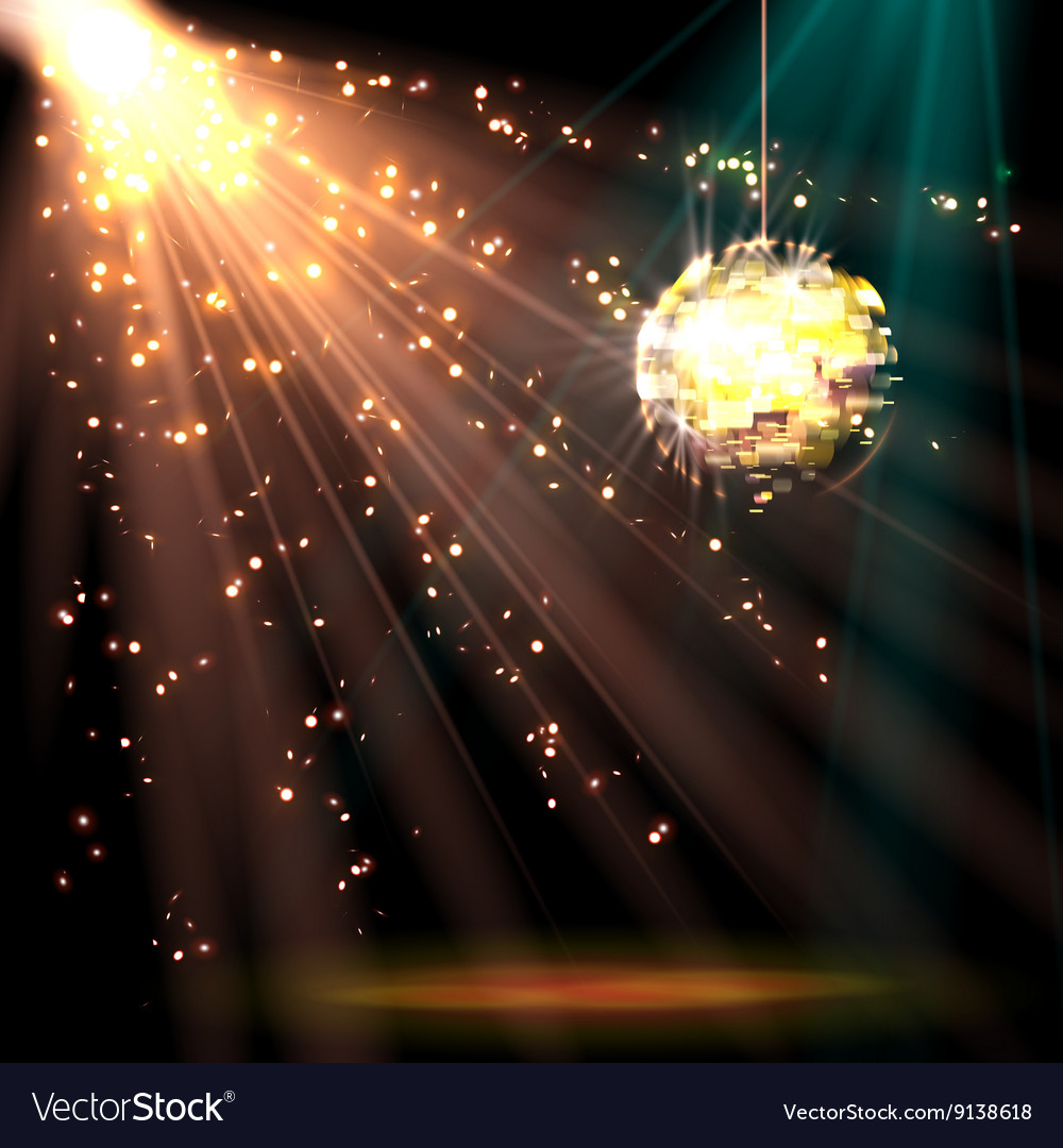 Disco ball background with light