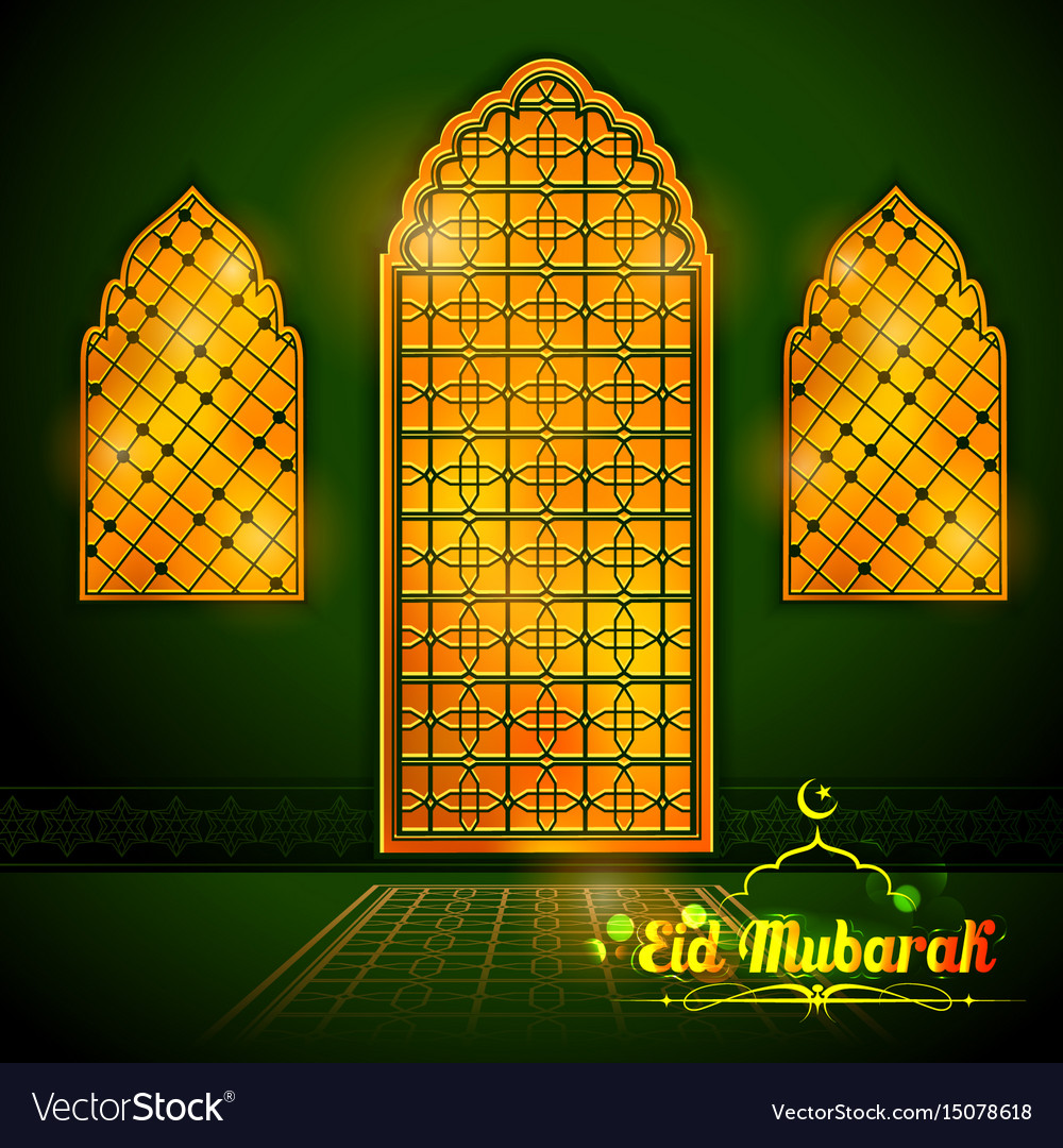 Eid mubarak happy eid greetings with arabic