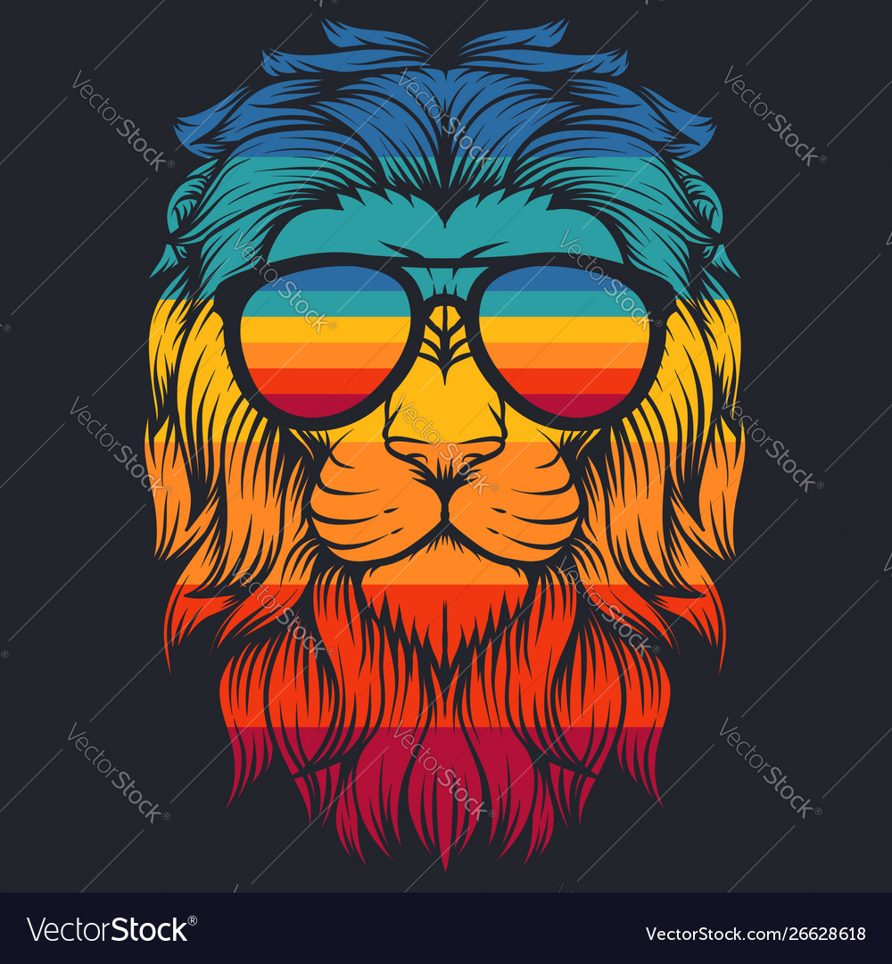 Lion cool retro eyeglasses