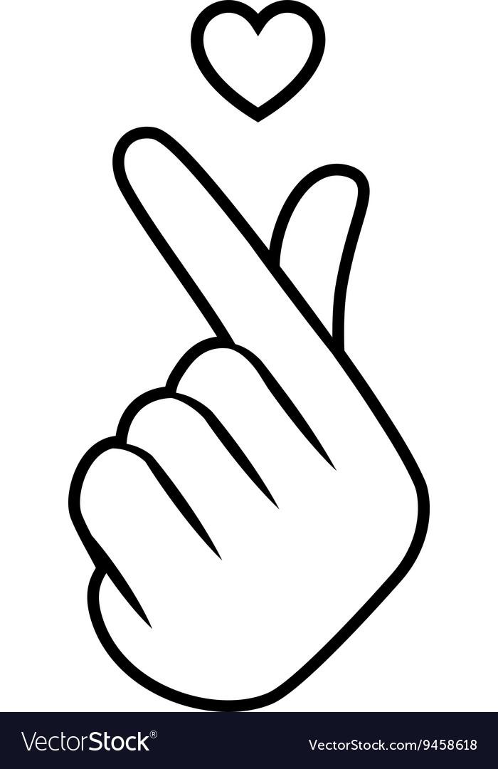 Sign icon symbol hand heart