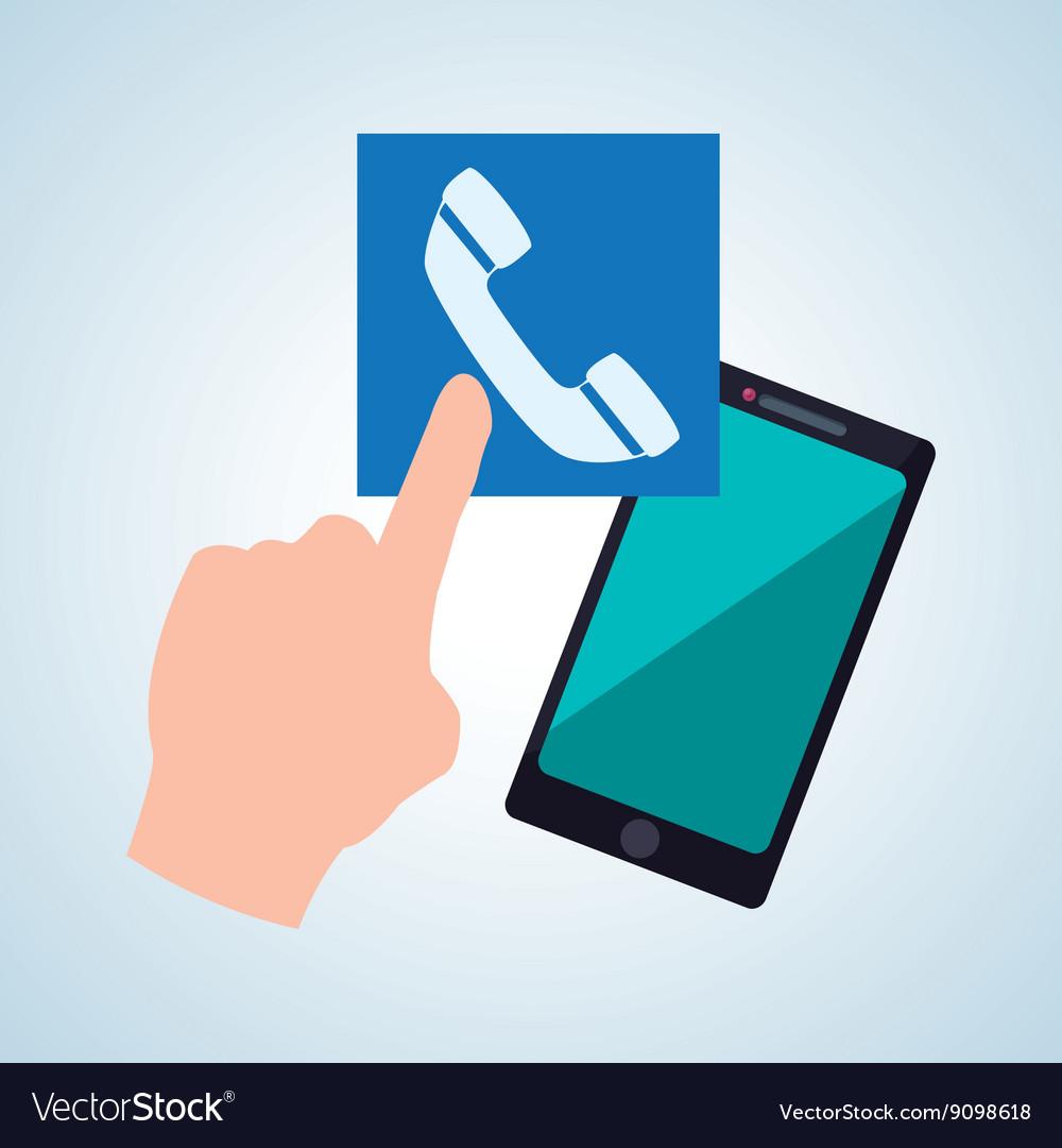 Smartphone design app concept colorful