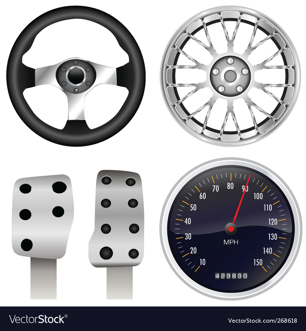 Sport Car Parts Royalty Free Vector Image Vectorstock