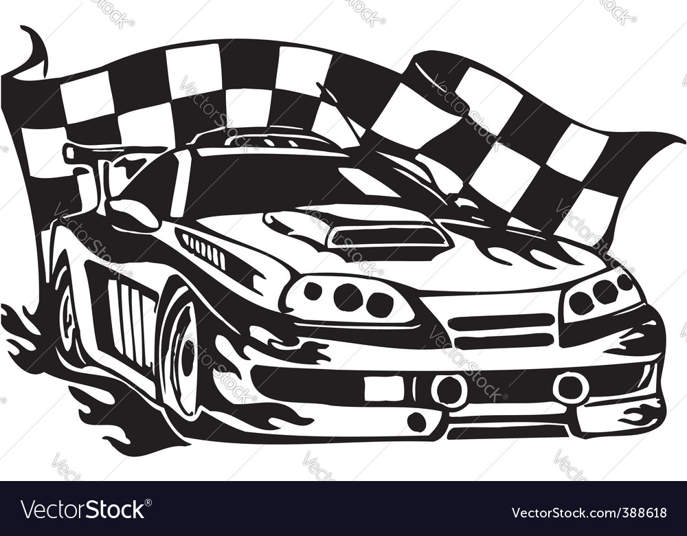 Auto Street Racing Cars on Street Racing Cars Vector 388618 By Dclipart