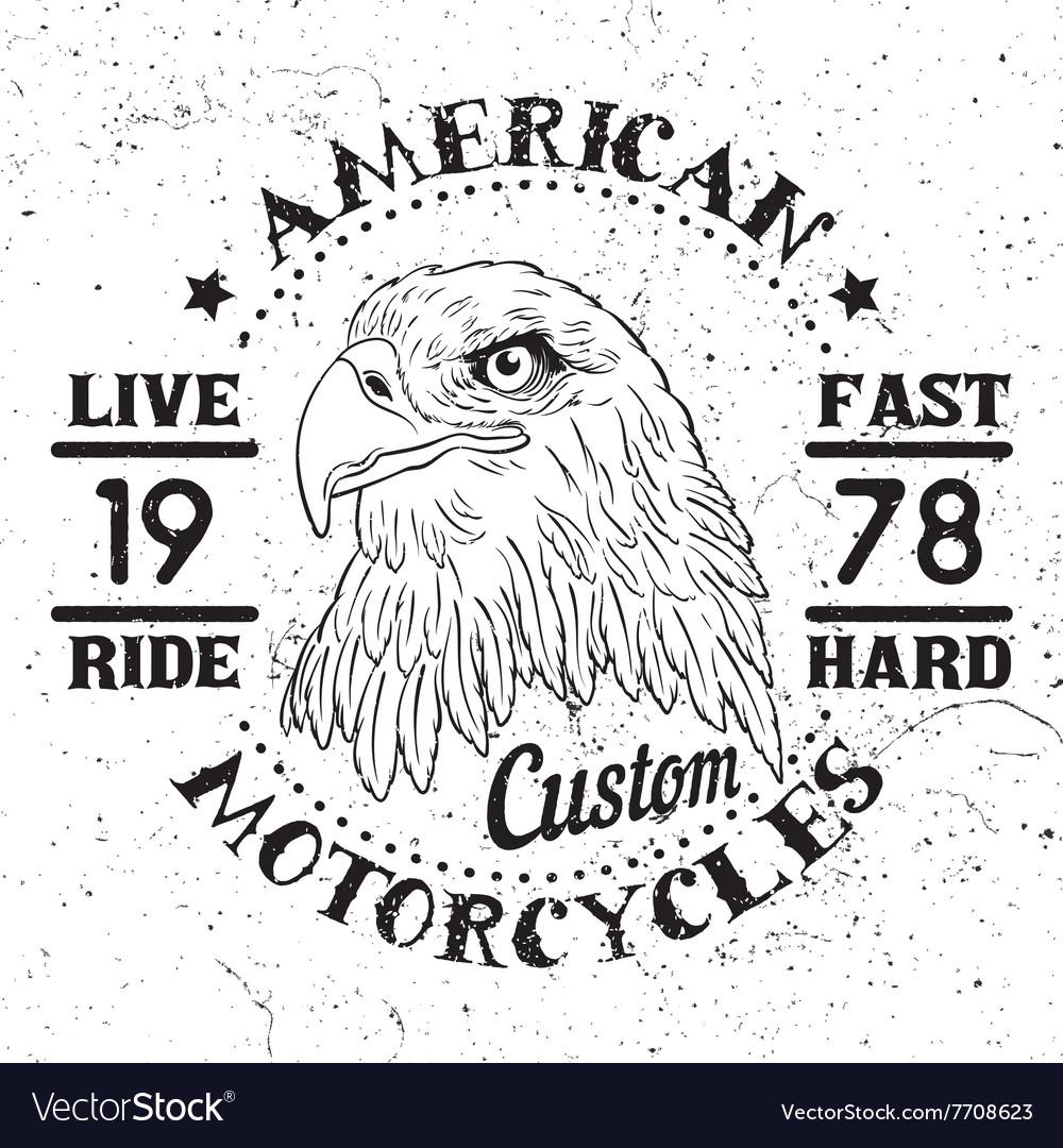 American eagle motorcycle emblem