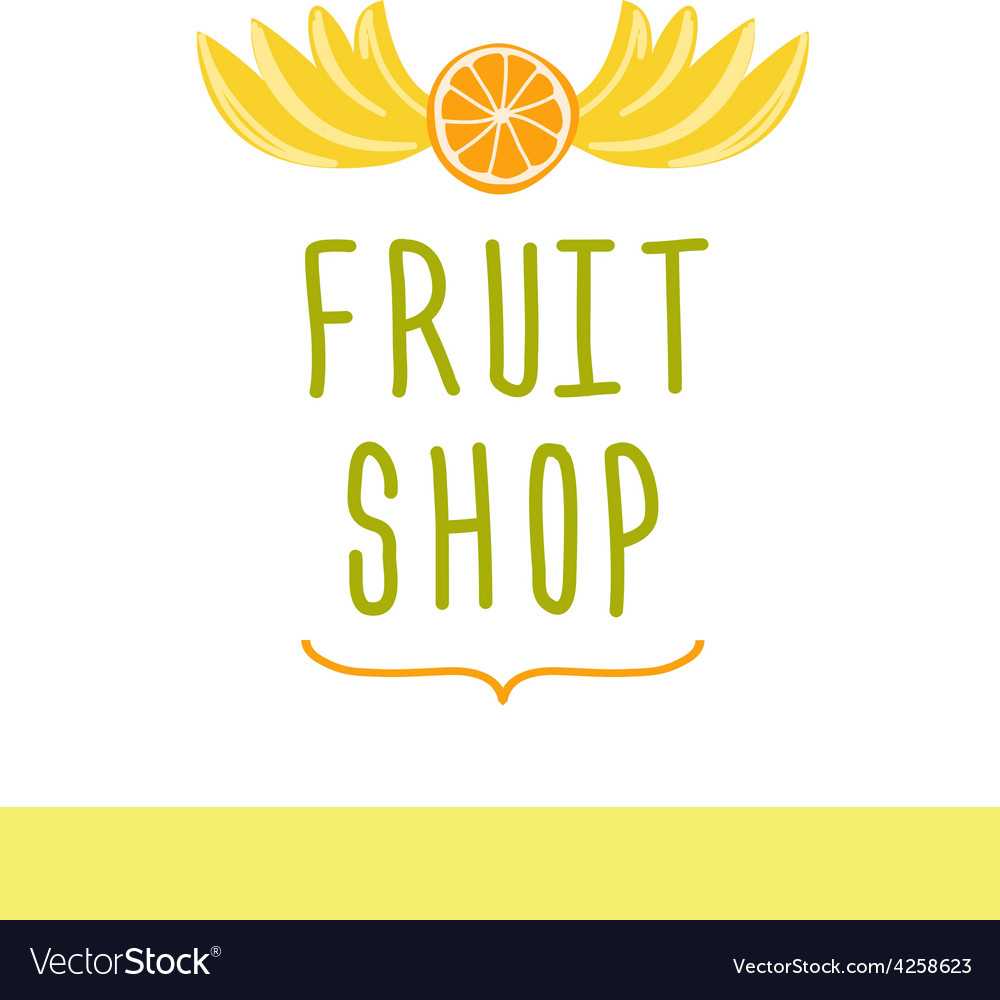Fruit shop Editable template logo or signage vector image