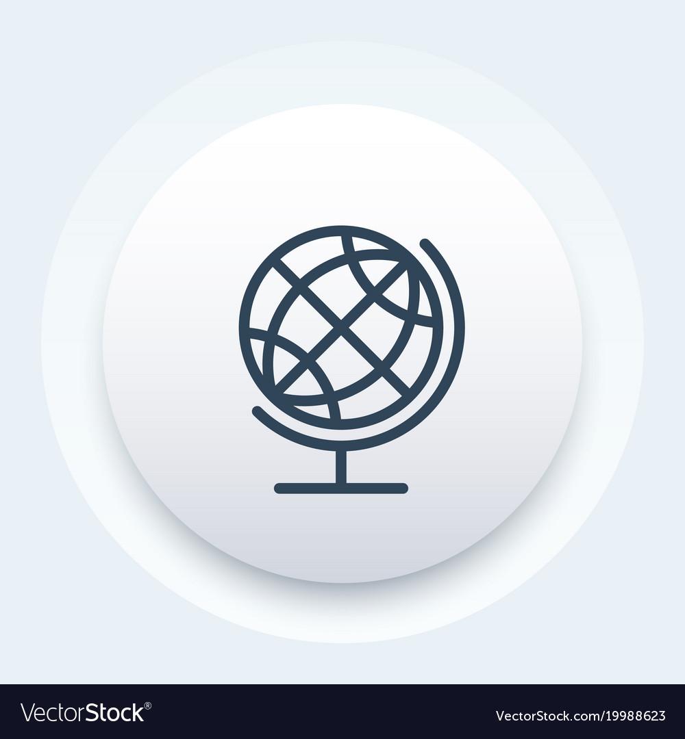 Globe icon linear style