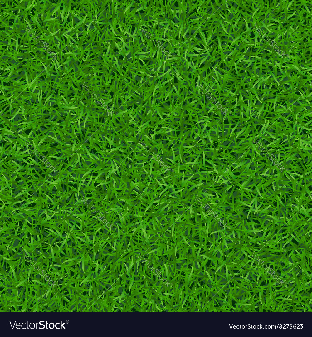 Green grass seamless pattern 1 vector image