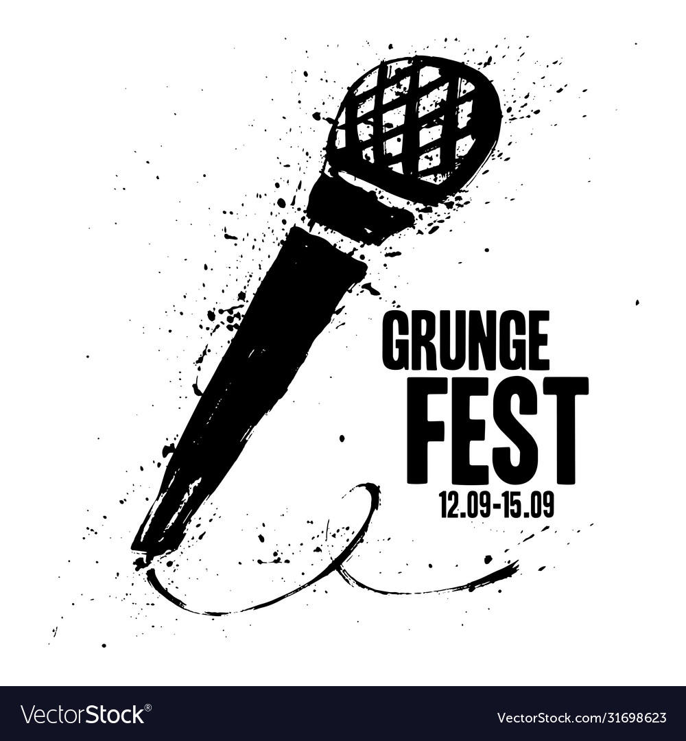 Grunge festival flyer poster template print