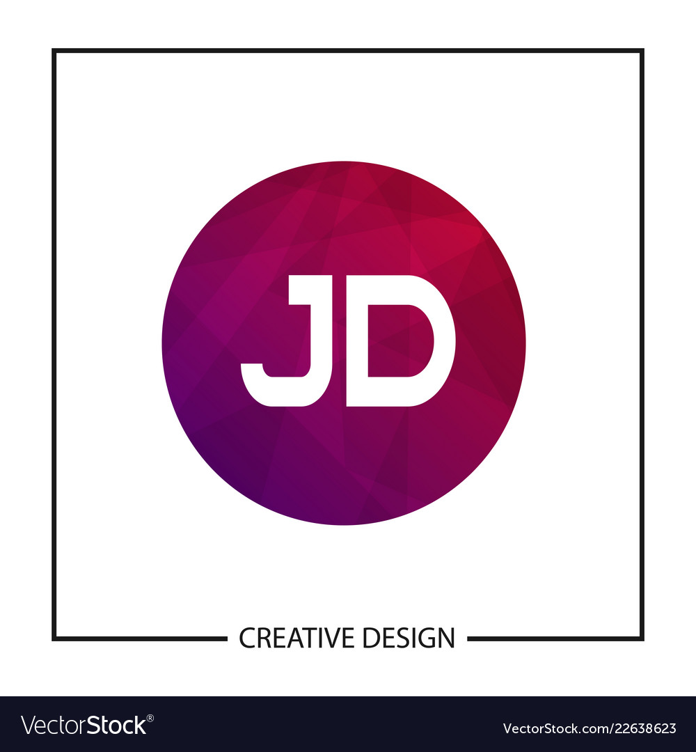 initial letter jd logo template design royalty free vector initial letter jd logo template design royalty free vector