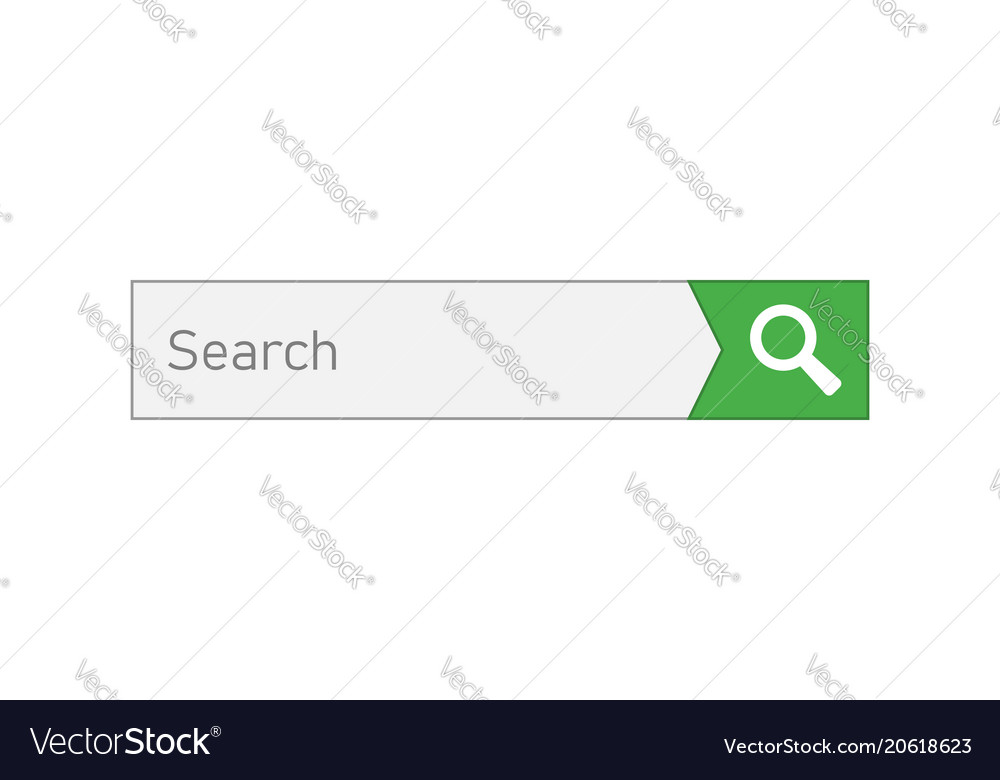 Search bar ui element icon in flat style search