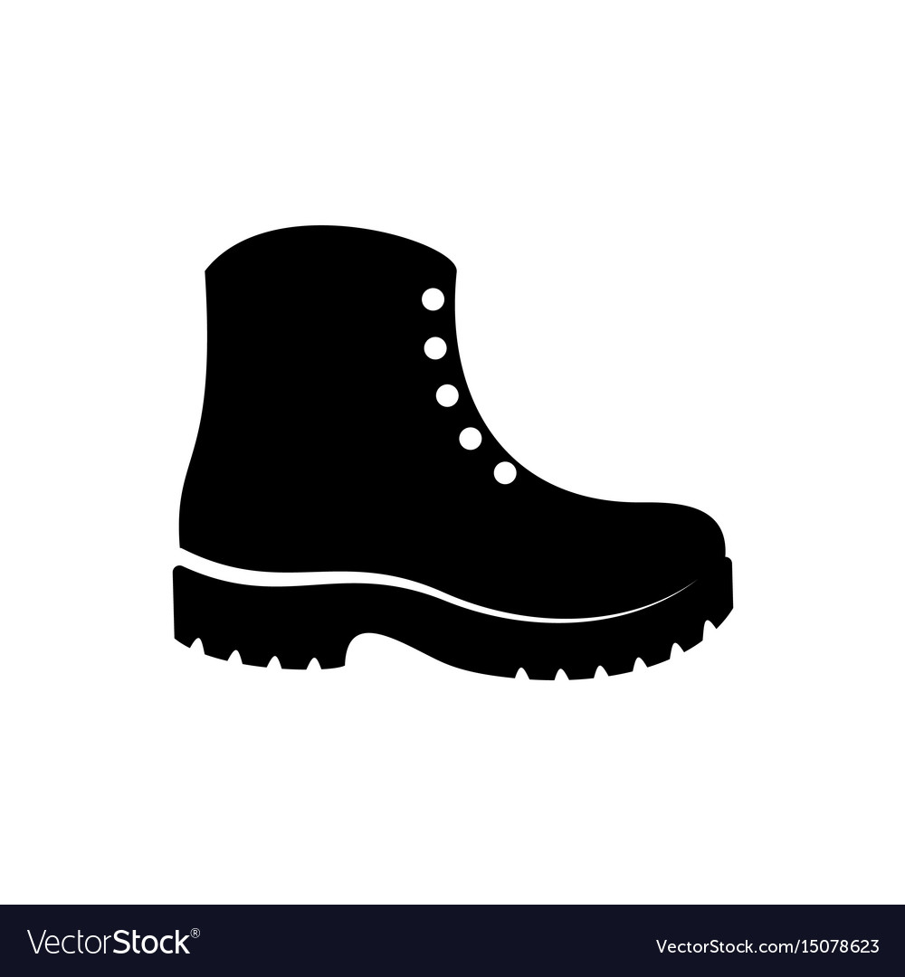 Simple black boots icon