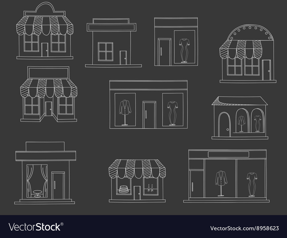 Store buildings chalk