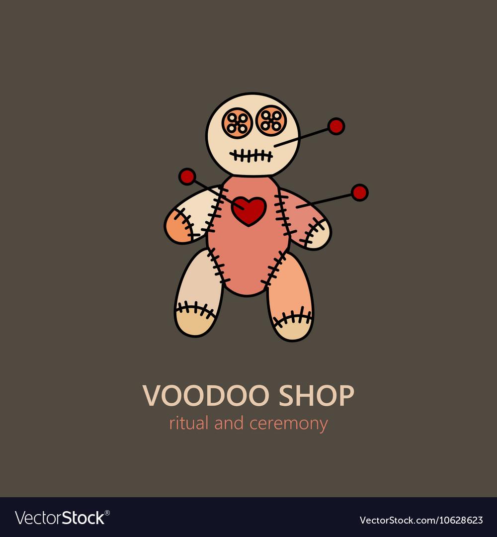 Voodoo doll logo