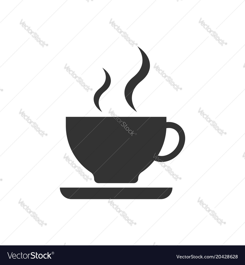 Coffee cup icon business concept coffee mug vector image