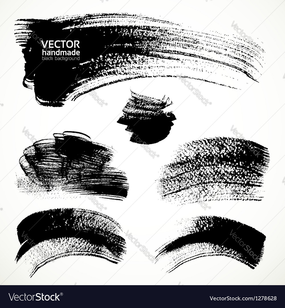 Figured brushstrokes brush and ink vector image