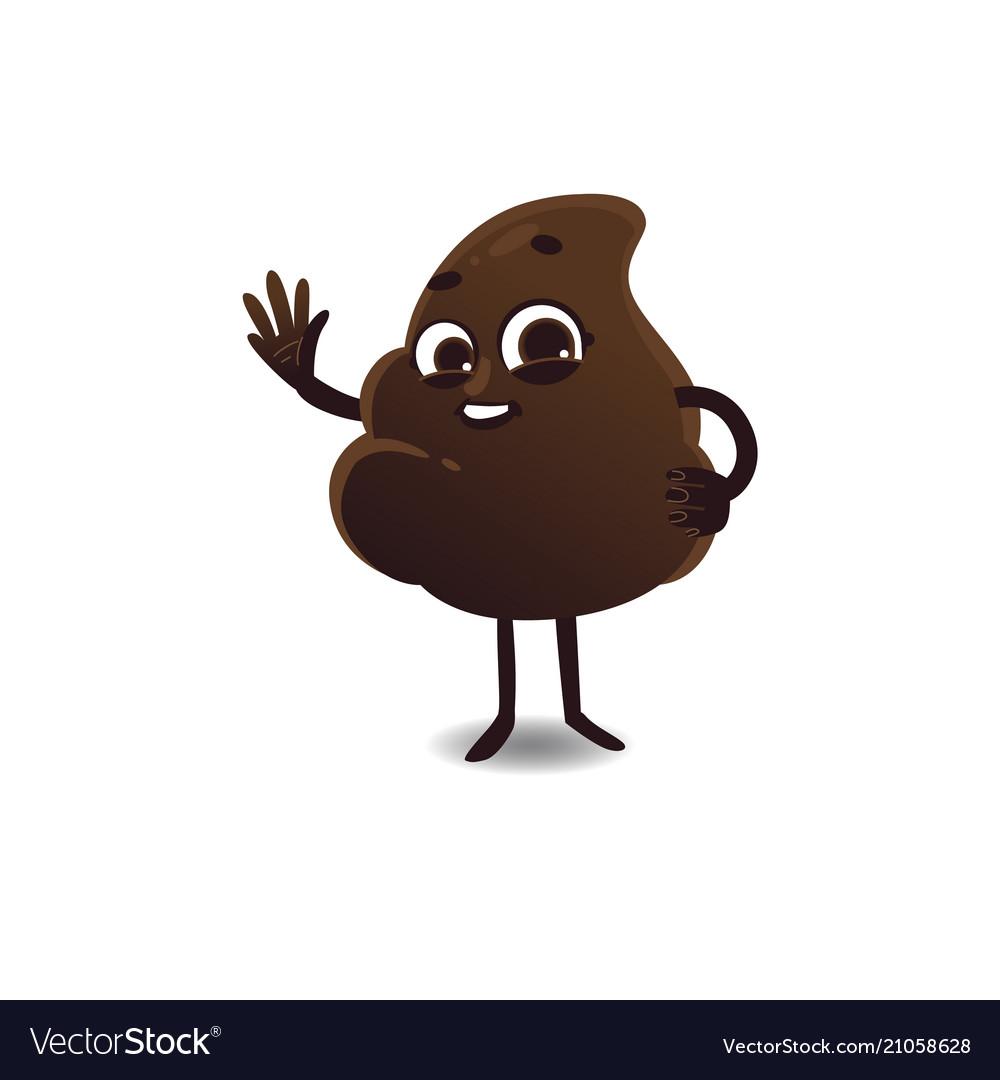 Flat poop waving hand