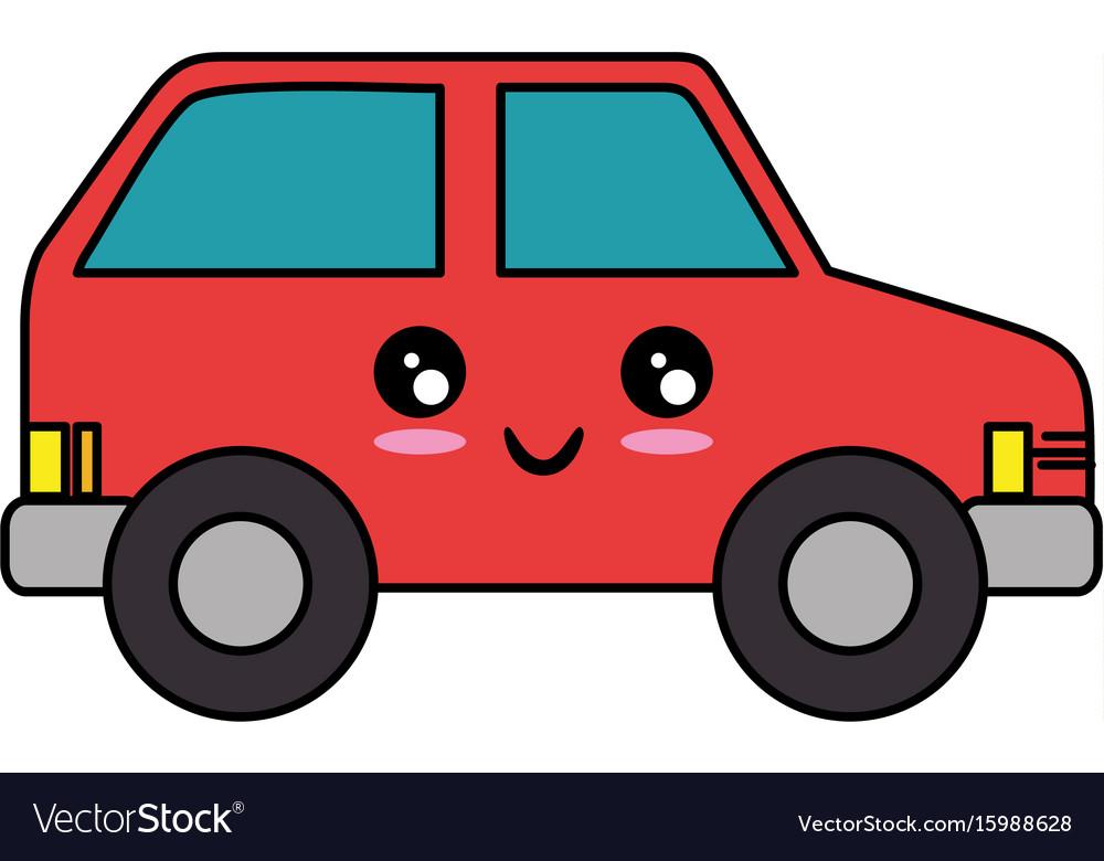kawaii car icon royalty free vector image vectorstock rh vectorstock com car icon vector free car icon vector png