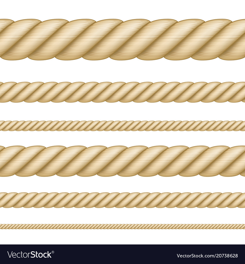 Set seamless ropes different thickness