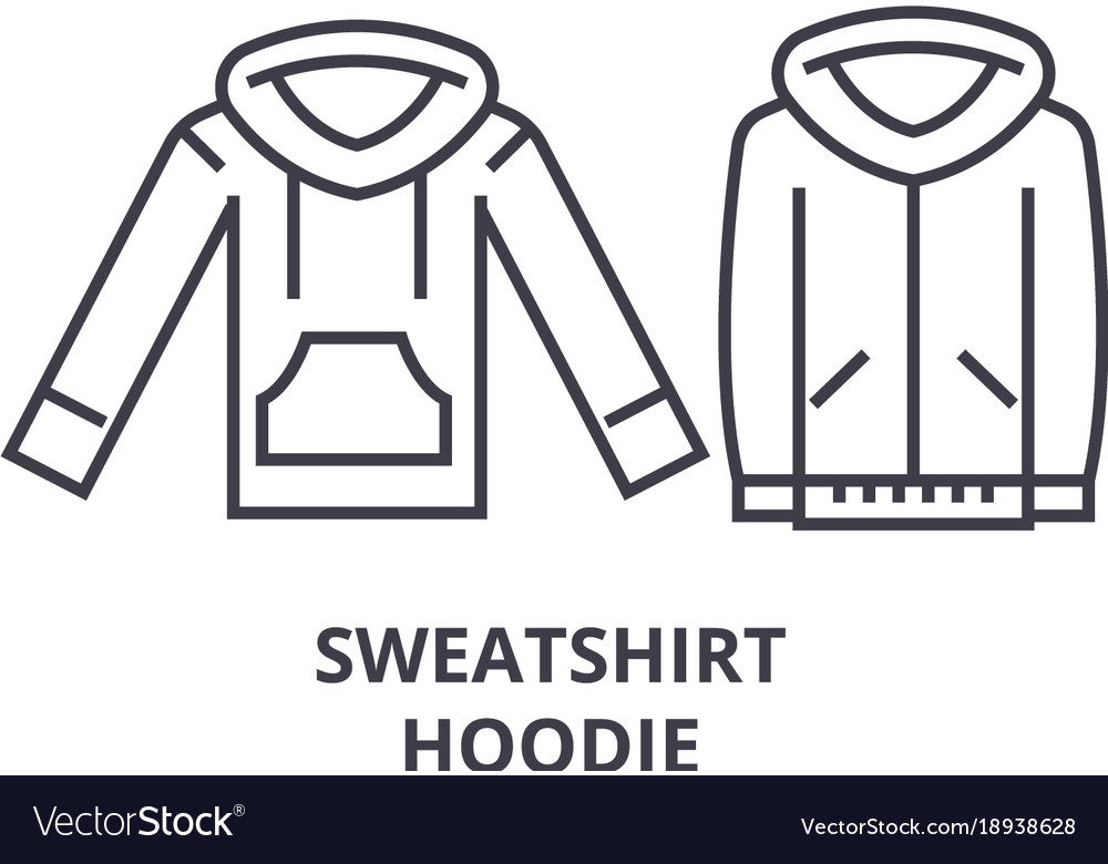 Sweatshirt hoodie line icon outline sign linear