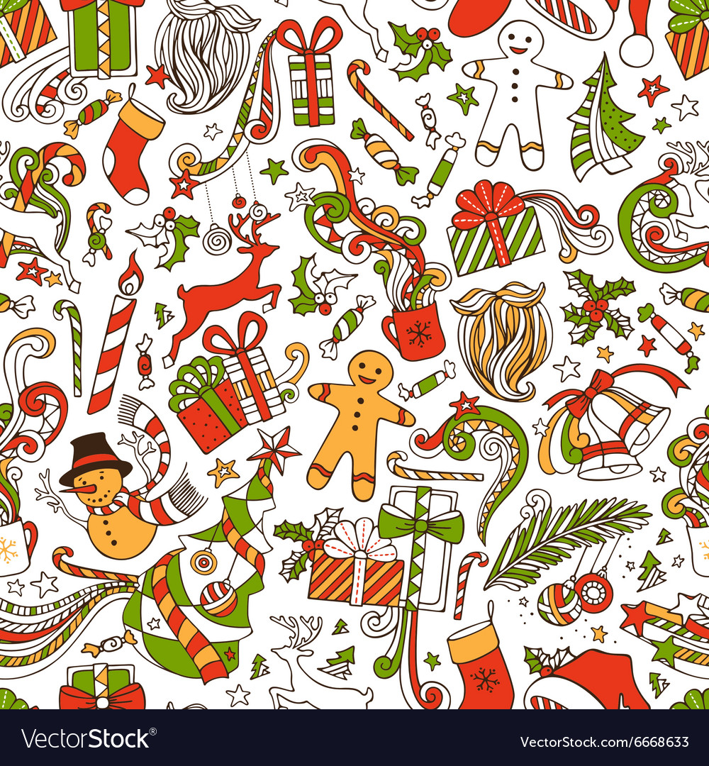 boundless funny christmas wallpaper vector image - Funny Christmas Wallpaper