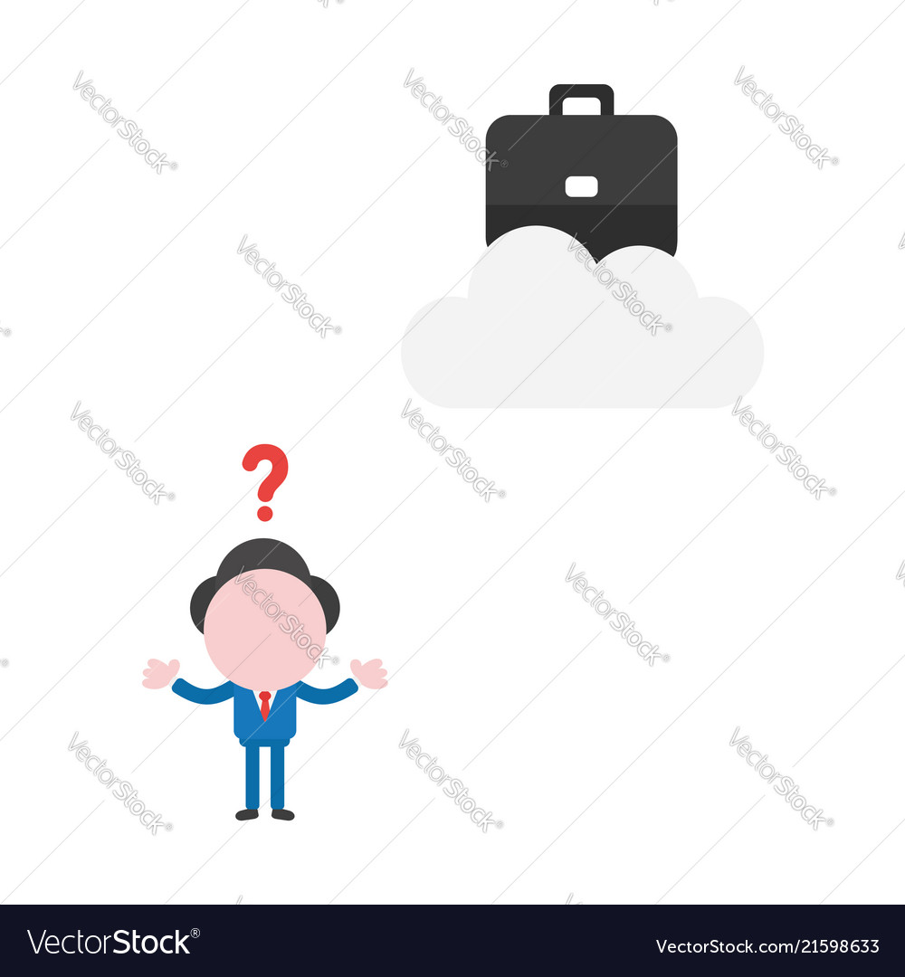Businessman character confused how reach to