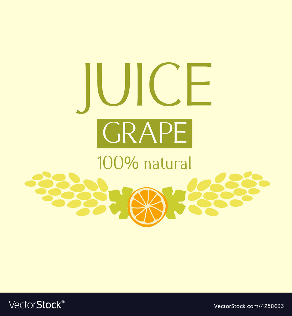 Editable label template or logo for fruit juice vector image