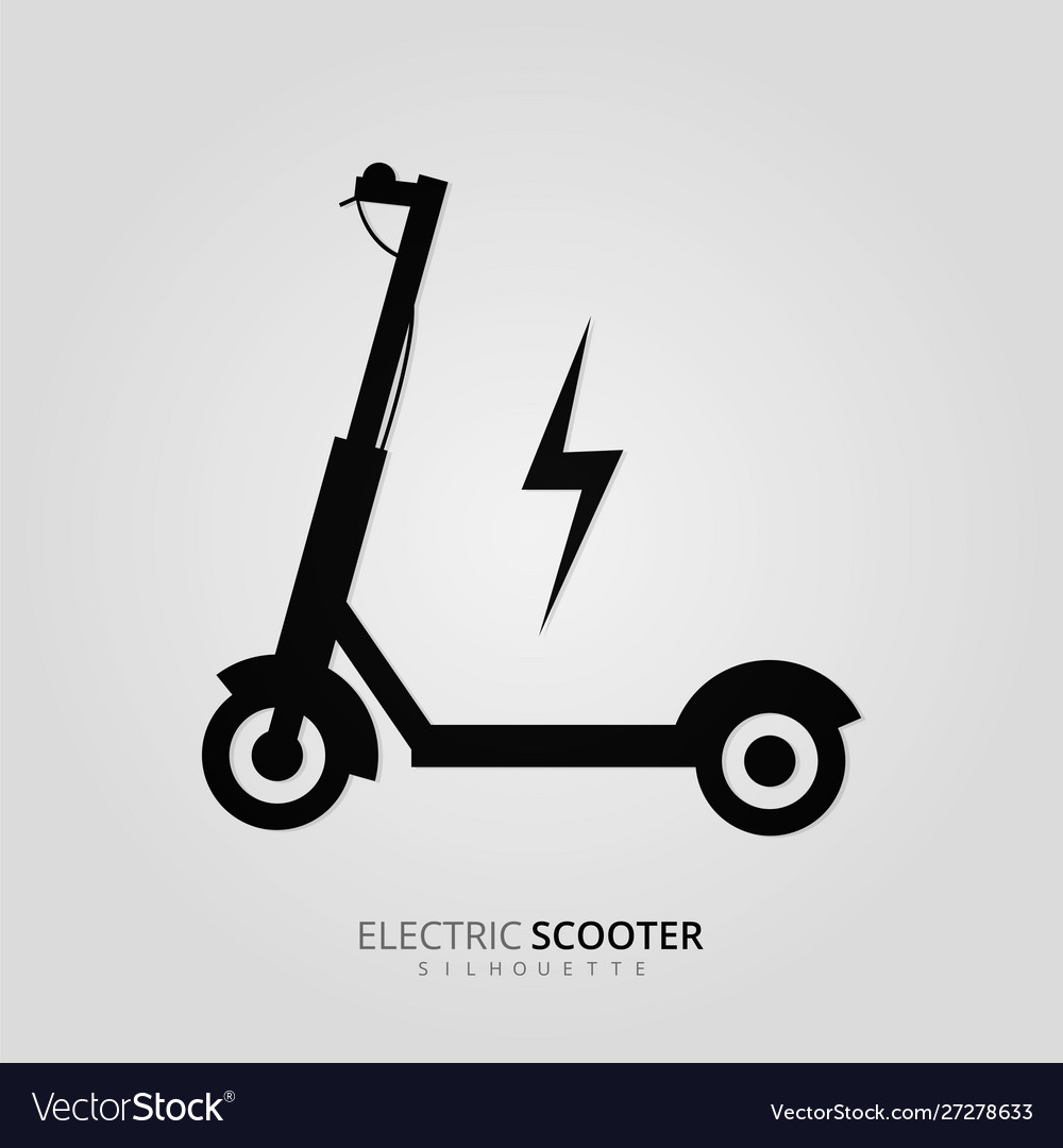electric scooter silhouette design royalty free vector image vectorstock