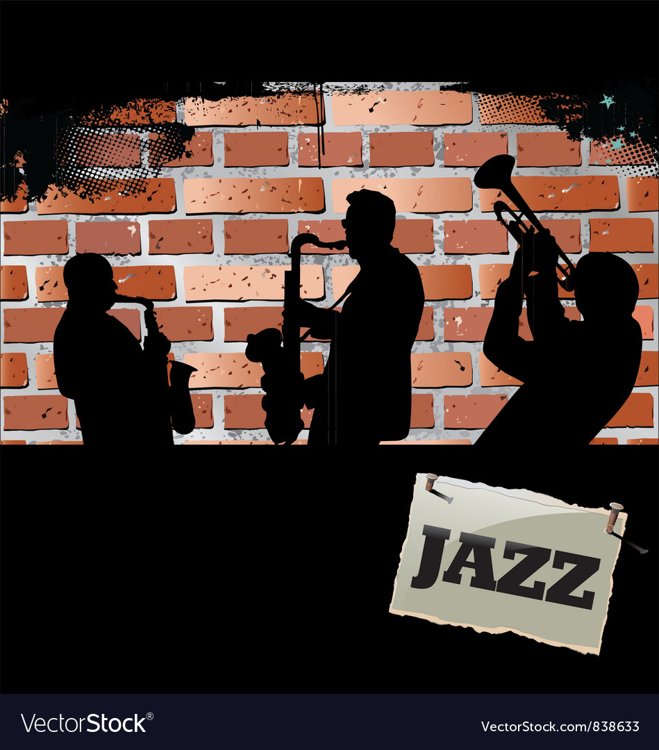 Jazz musicians - Brick wall background