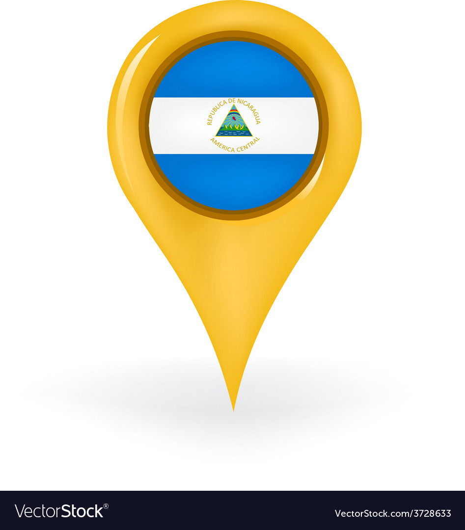 Location Nicaragua vector image