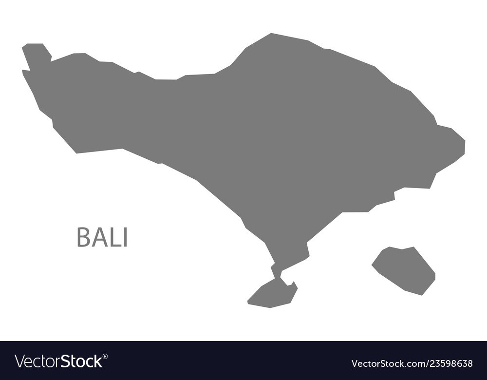 Bali Indonesia Map Grey Vector Image