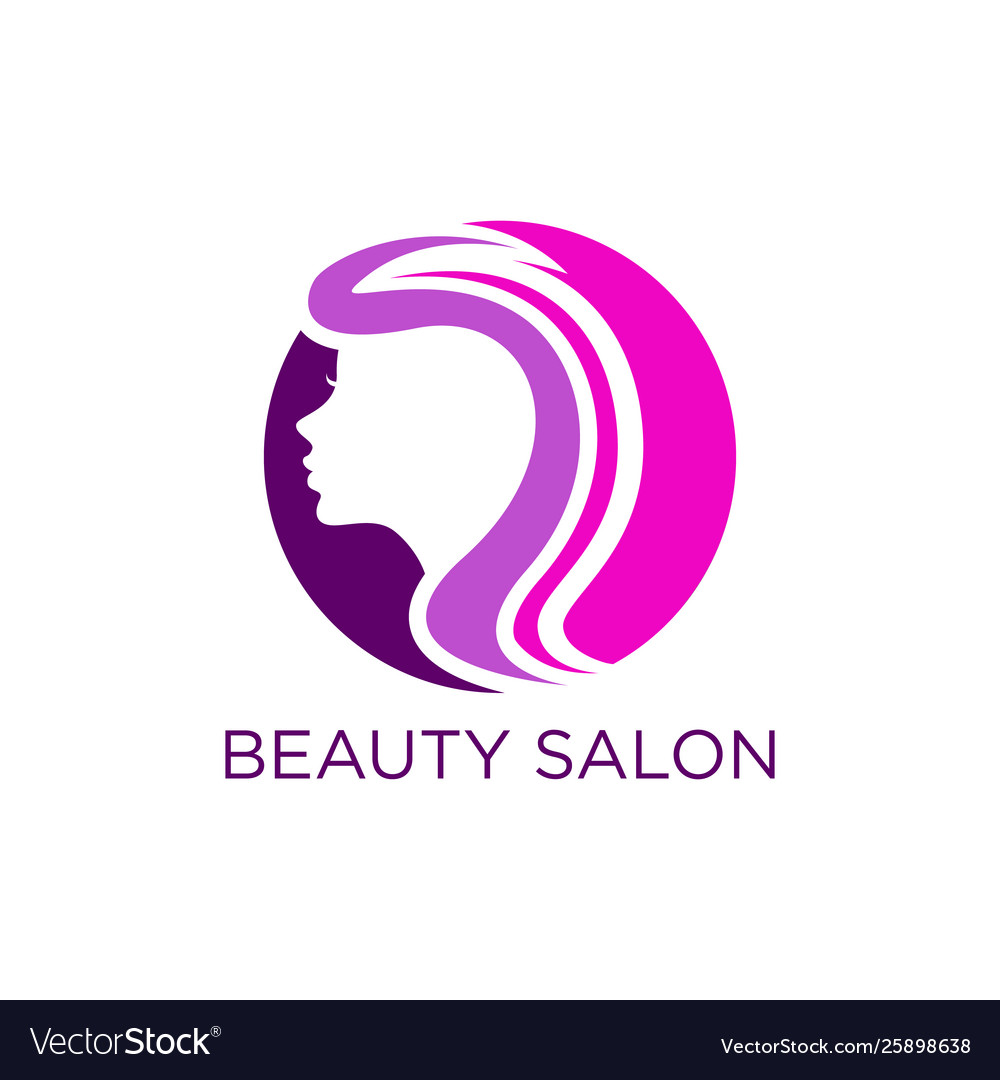 Beauty Salon Logo Design Royalty Free Vector Image