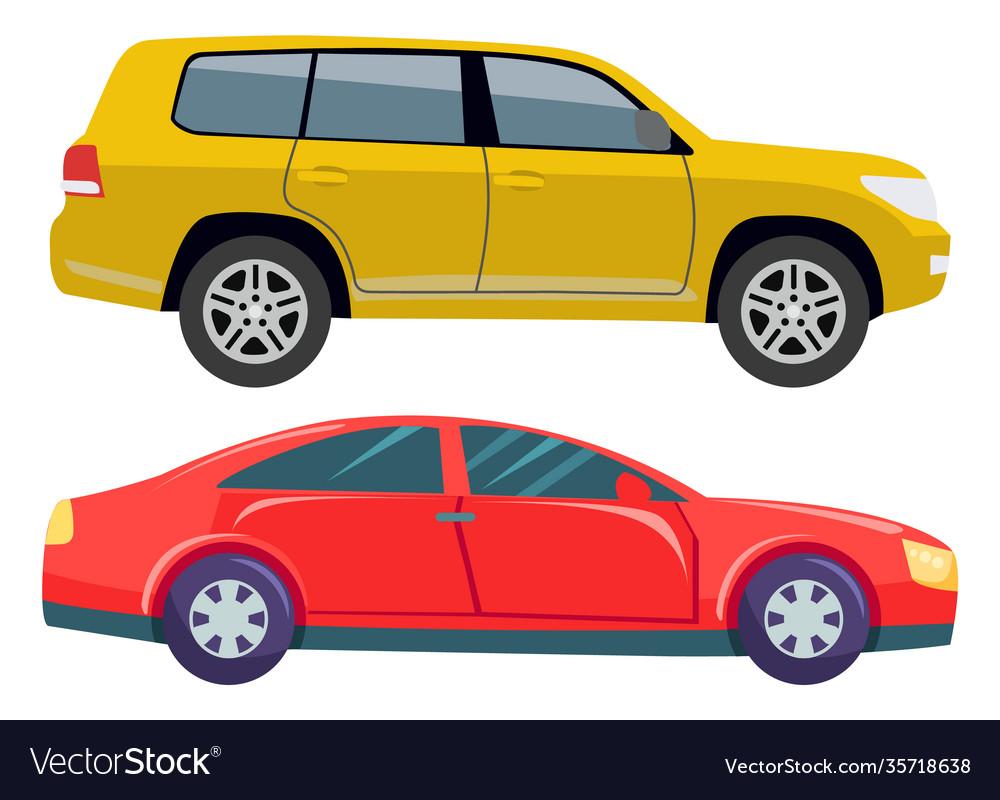 Car transport set jeep hotrod automobile vehicle