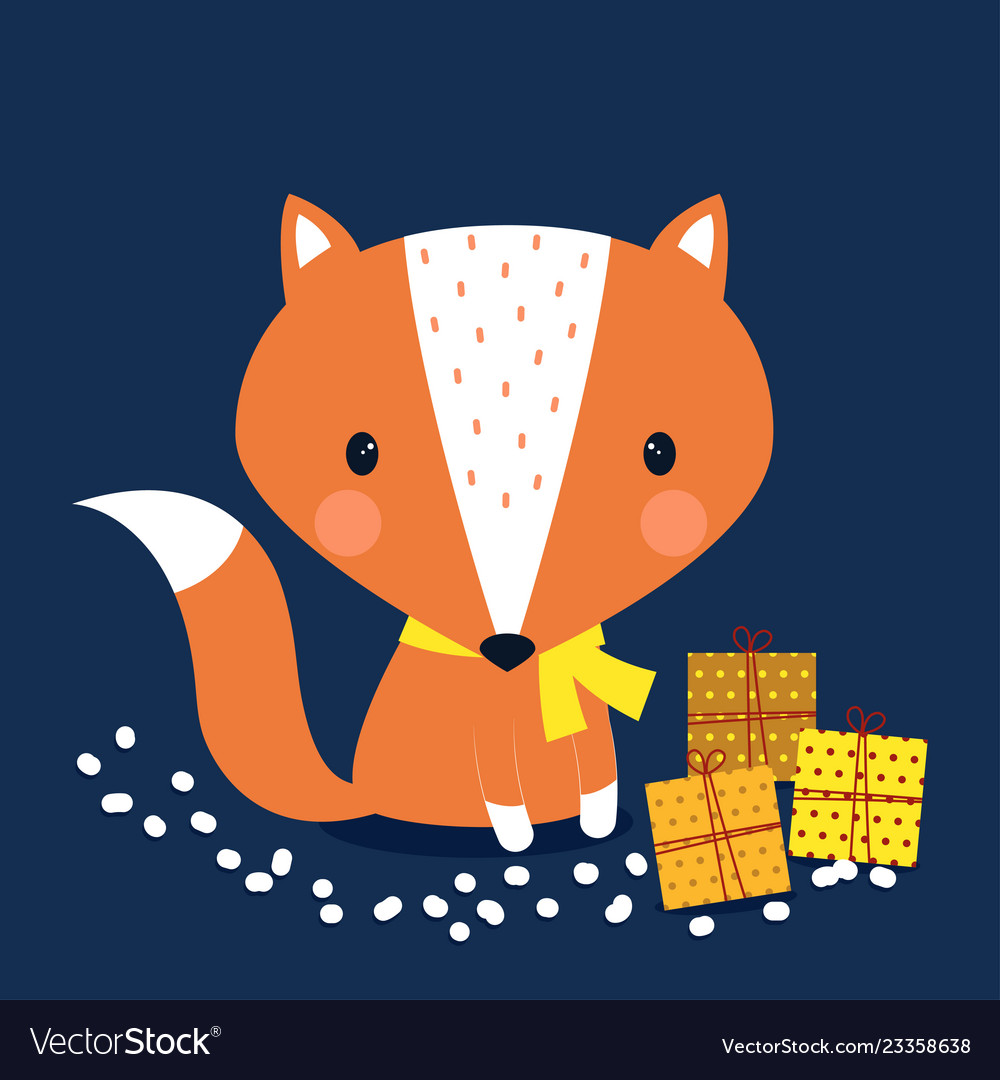 Cute print scandinavian fox
