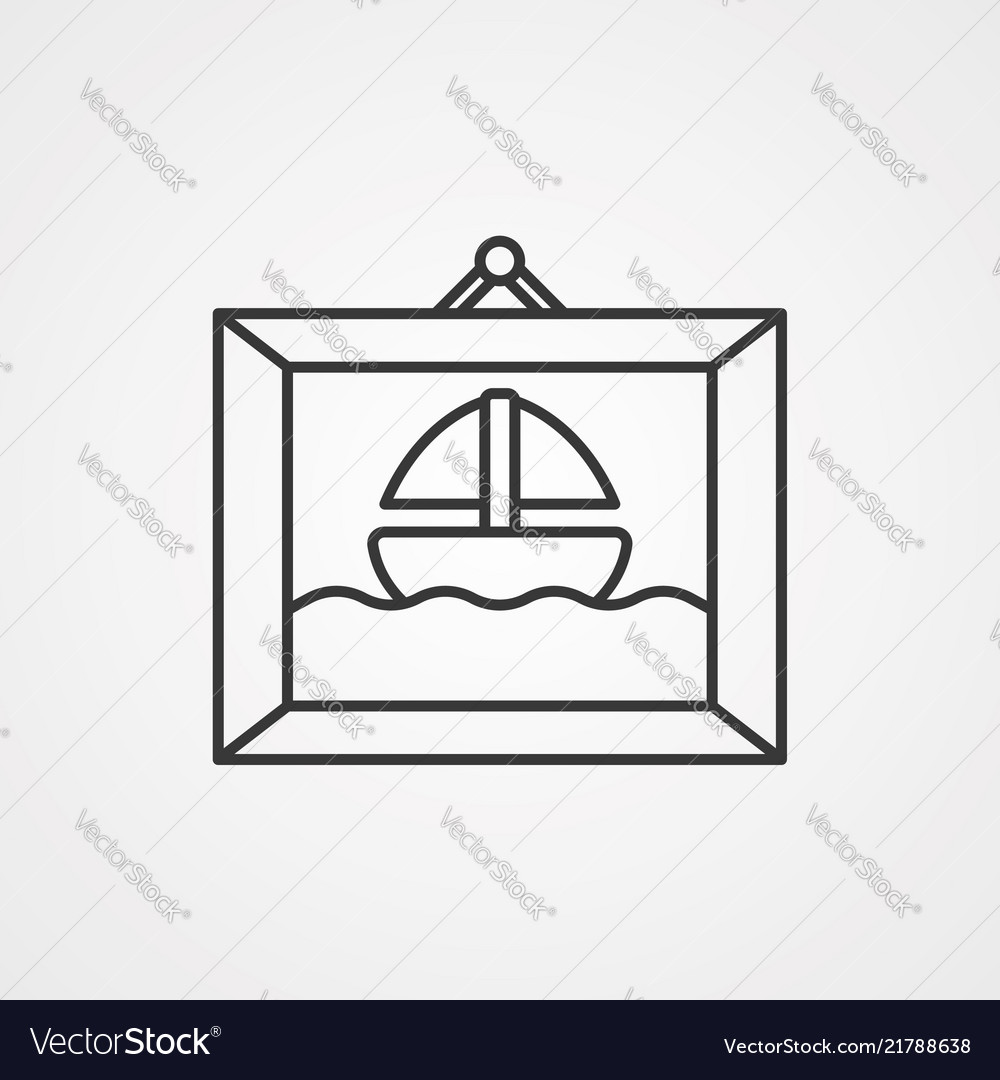 Frame icon sign symbol