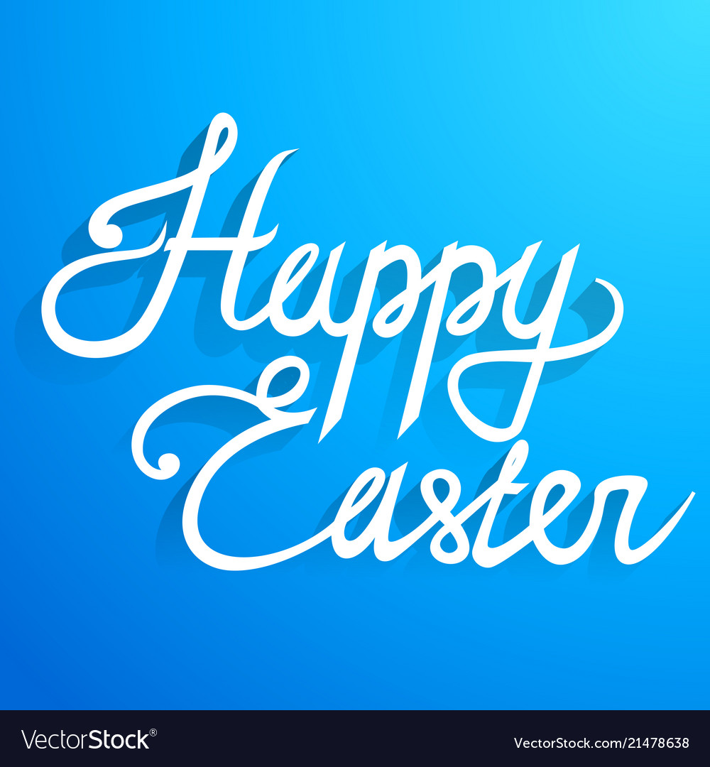 Happy easter lettering text