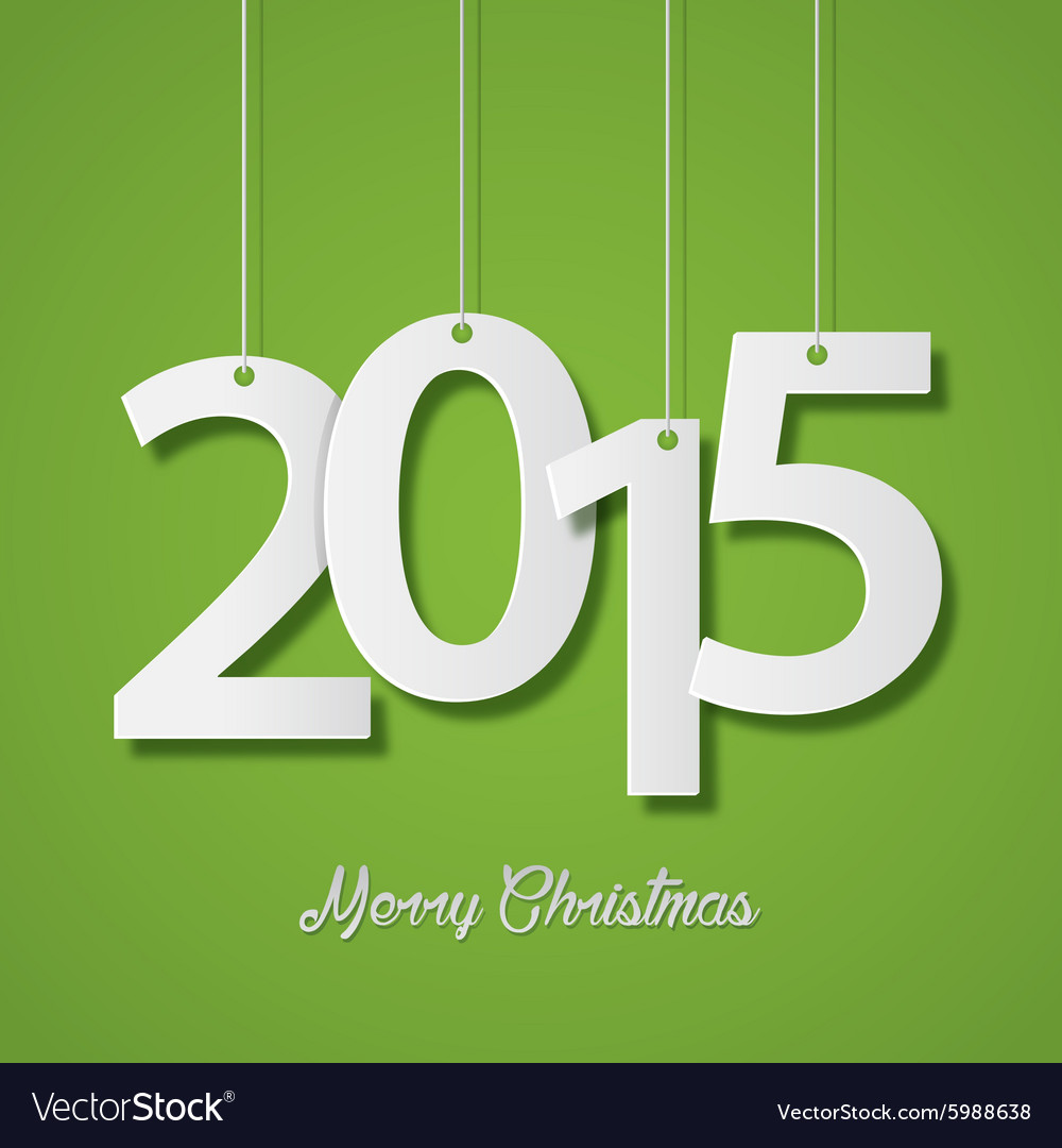 Happy new year 2015 creative greeting card design vector image